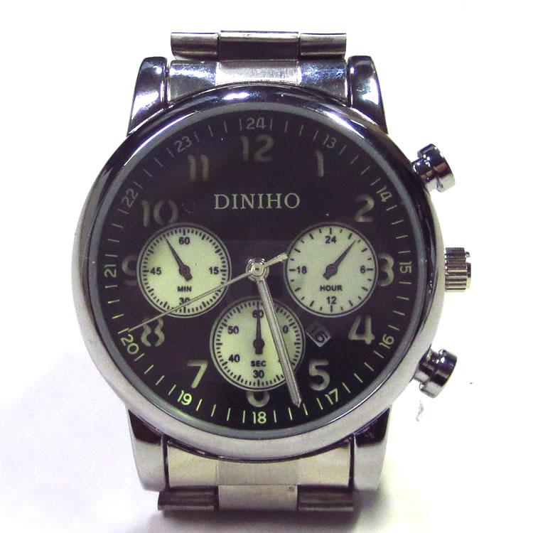 【新着】Cuirs(キュイー)メンズ腕時計 DINIHOカレンダー付きブレスレットウオッチ新作デザイン