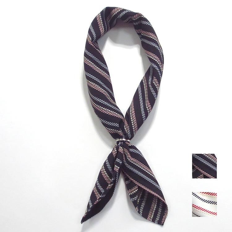 【新着】Cuirs(キュイー)メンズスカーフ リング付きスカーフストライプ柄 新作デザイン
