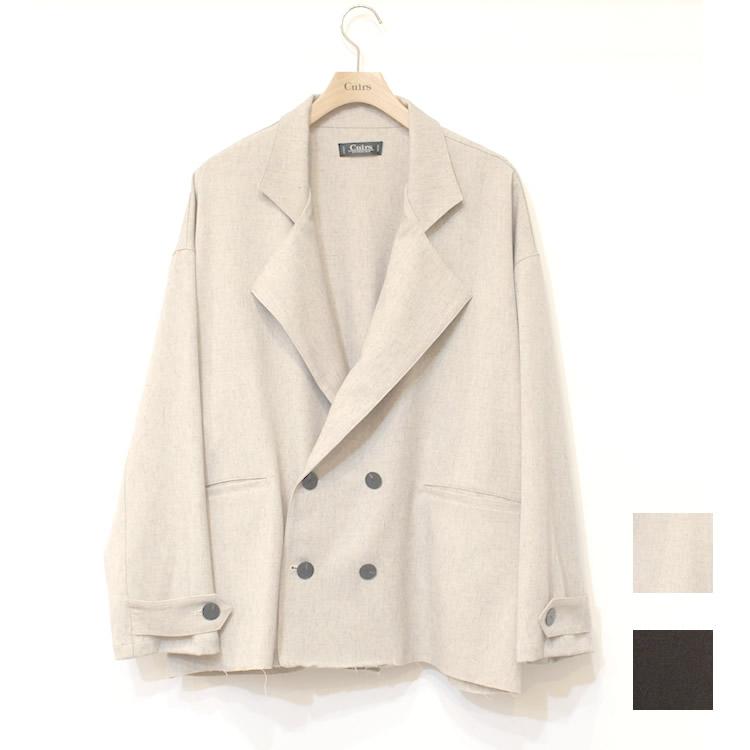 【新着】Cuirs(キュイー)メンズジャケット オリジナルセットアップダブルショートジャケット新作デザイン