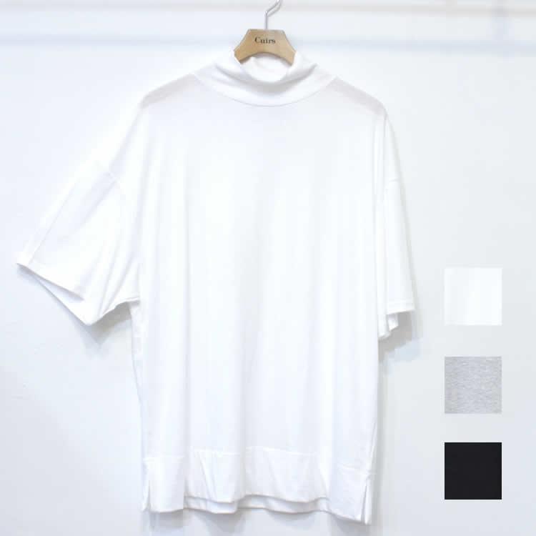 【新着】Cuirs(キュイー)メンズTシャツ オリジナルハーフスリーブモックネックTシャツ新作デザイン