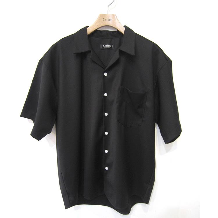 【セール】【新着】Cuirs(キュイー)メンズシャツ オリジナルセットアップ光沢オープンシャツ新作デザイン