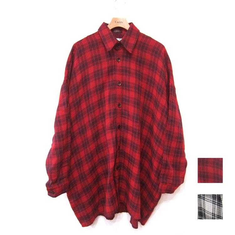 【新着】Cuirs(キュイー)メンズシャツ オリジナルチェック柄ガーゼオーバーシャツアウター新作デザイン