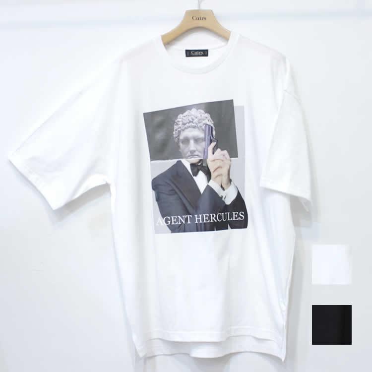 【新着】Cuirs(キュイー)メンズTシャツ オリジナルパロディープリントTシャツ(サコ)新作デザイン