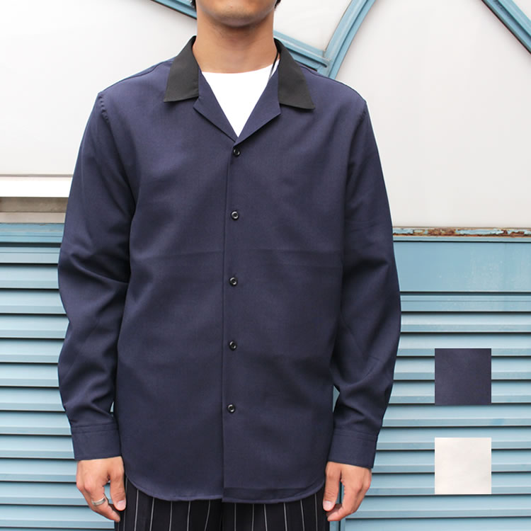 【Streetjack10月号雑誌掲載】【新着】Cuirs(キュイー)メンズシャツ オリジナルクレリック開衿オープンシャツ新作デザイン