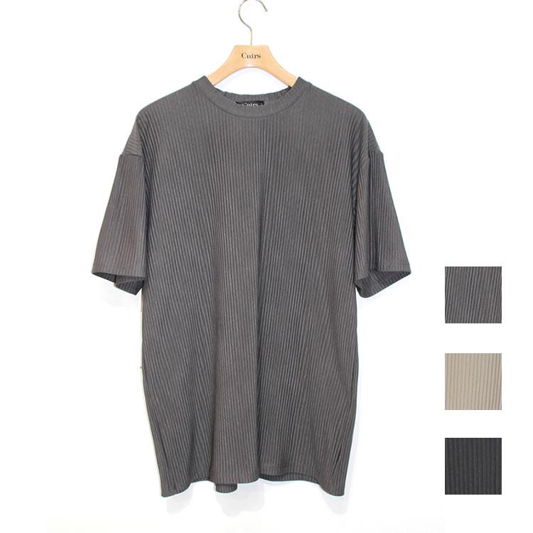 【新着】Cuirs(キュイー)メンズTシャツ  プリーツセットアップTシャツ 新作デザイン