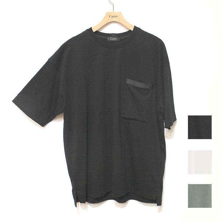 【新着】Cuirs(キュイー)メンズTシャツ オリジナルキンチャクポケットバックリングTシャツ新作デザイン