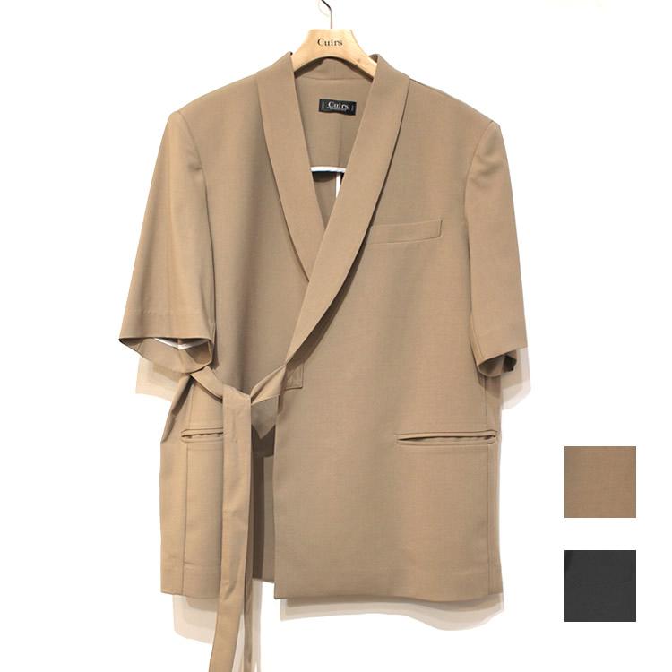 【再入荷】Cuirs(キュイー)メンズジャケット ハーフスリーブショールカラーセットアップジャケット 新作デザイン