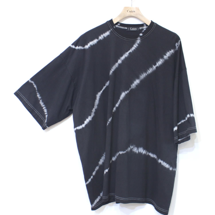 【新着】Cuirs(キュイー)メンズシャツ オリジナルタイダイ染めオーバーサイズTシャツ新作デザイン