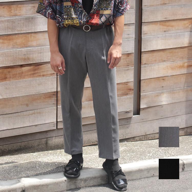 【新着】Cuirs(キュイー)メンズパンツ オリジナルアンクルテーパードシャーリングパンツ新作デザイン
