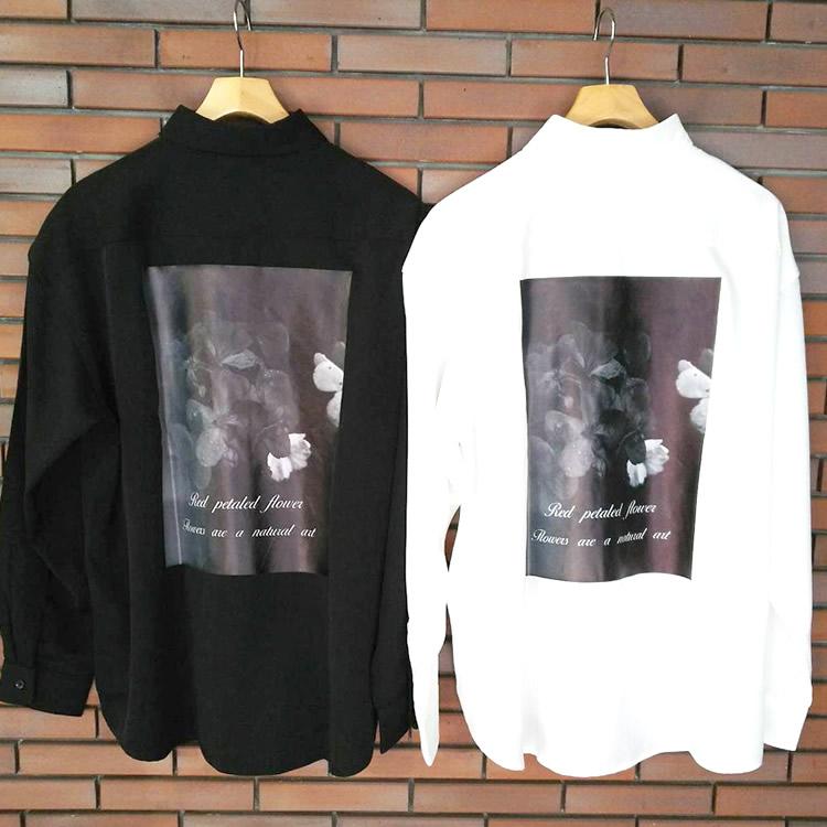 【新着】Cuirs(キュイー)メンズシャツ オリジナルバックプリントさらさらシャツ新作デザイン