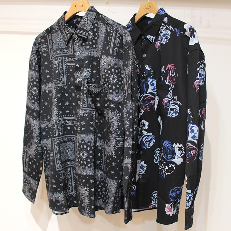 【新着】Cuirs(キュイー)メンズシャツ オリジナル総柄プリントシャツ新作デザイン