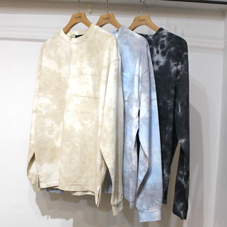 【新着】Cuirs(キュイー)メンズTシャツ オリジナルタイダイロングスリーブTシャツ新作デザイン