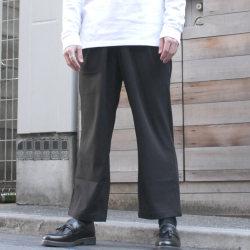 【【新着】Cuirs(キュイー)メンズスラックス クロップドワイドパンツ新作デザイン