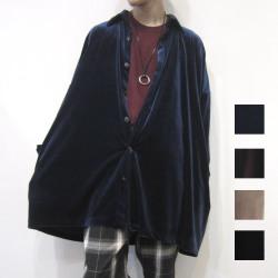 【SALE】Cuirs(キュイー)メンズシャツ オリジナルベロアビッグオーバーシャツアウター新作デザイン