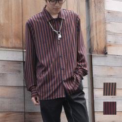 【新着】Cuirs(キュイー)メンズシャツ オリジナルロンドンストライプさらさらシャツ新作デザイン