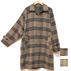 【セール】Cuirs(キュイー)メンズコート ドルマンスリーブチェックオーバーサイズコート 新作デザイン
