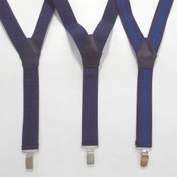 【FINEBOYS11月号雑誌掲載】【新着】Cuirs(キュイー)メンズサスペンダー ブルーカラー3デザインサスペンダー 新作デザイン