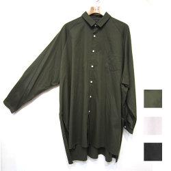 【新着】Cuirs(キュイー)メンズシャツ オリジナルロング丈ラグランスリーブシャツ新作デザイン