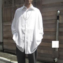 【新着】Cuirs(キュイー)メンズシャツ オリジナルビックサイズ裾カットオフシャツ新作デザイン
