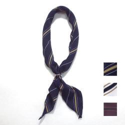 【新着】Cuirs(キュイー)メンズスカーフ リング付きスカーフレジメンタルストライプ柄 新作デザイン