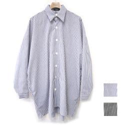 【】再入荷Cuirs(キュイー)メンズシャツ オリジナルストライプ柄オーバーシャツアウター新作デザイン