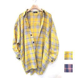 【新着】再入荷Cuirs(キュイー)メンズシャツ オリジナルチェック柄オーバーシャツアウター新作デザイン