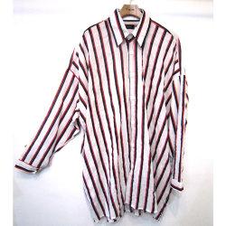 【再入荷】Cuirs(キュイー)メンズシャツ オリジナルマルチストライプ柄シアサッカー生地オーバーシャツアウター新作デザイン