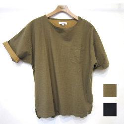 【セール】【新着】Cuirs(キュイー)メンズシャツ 麻混肩ジップUネック半袖シャツ新作デザイン