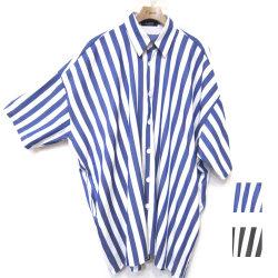 【セール】Cuirs(キュイー)メンズシャツ オリジナルロンドンストライプビックシャツアウター新作デザイン