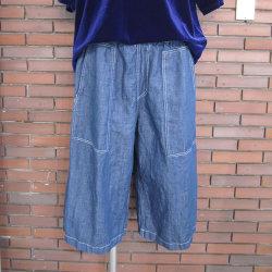 【新着】Cuirs(キュイー)メンズパンツ オリジナルインディゴワークガウチョパンツ新作デザイン