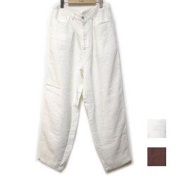 【セール】Cuirs(キュイー)メンズパンツ オリジナルLポケットリネンワイドパンツ新作デザイン