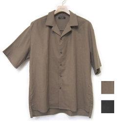 【新着】Cuirs(キュイー)メンズシャツ オリジナル綿麻セットアップオープンシャツ新作デザイン