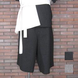 【再入荷】Cuirs(キュイー)メンズパンツ オリジナル綿麻サルエルガウチョショーツパンツ新作デザイン