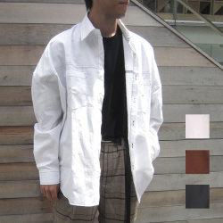 【新着】Cuirs(キュイー)メンズシャツ オリジナルステッチ入りビッグワークシャツ新作デザイン