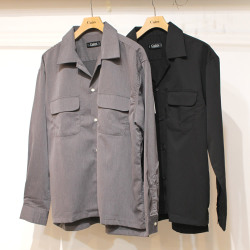 【新着】Cuirs(キュイー)メンズシャツ オリジナルダブルフラップポケットオープンシャツ作デザイン