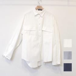 【新着】Cuirs(キュイー)メンズシャツ オリジナルカフスドローコードカットオフシャツ新作デザイン
