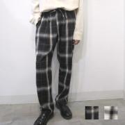 【新着】Cuirs(キュイー)メンズパンツ オリジナルオンブレチェックイージーパンツ新作デザイン