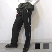 【新着】Cuirs(キュイー)メンズパンツ オリジナルパイピングラインストレートパンツ新作デザイン