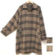 【新着】Cuirs(キュイー)メンズコート ドルマンスリーブチェックオーバーサイズコート 新作デザイン
