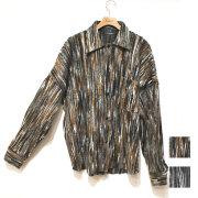 【新着】Cuirs(キュイー)メンズニット メックコラーゲンニットシャツ 新作デザイン