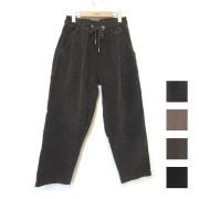 【新着】Cuirs(キュイー)メンズパンツ オリジナルコーデュロイイージーテーパードワイドパンツ新作デザイン