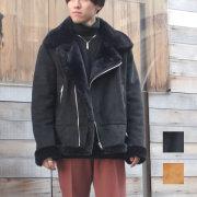 【新着】Cuirs(キュイー)メンズジャケット 【ブラック再入荷決定】オリジナルフェイクムートンフライトジャケット新作デザイン