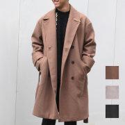 【新着】Cuirs(キュイー)メンズコート オリジナルオーバーサイズダブルウールコート新作デザイン