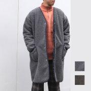 【新着】Cuirs(キュイー)メンズコート オリジナルボアカラーレスコート新作デザイン