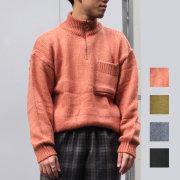 【SALE】Cuirs(キュイー)メンズニット オリジナルハーフZIPモヘアニット新作デザイン