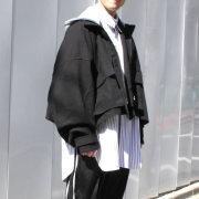 【新着】Cuirs(キュイー)メンズジャケット オリジナルTRフードカットオフショートジャケット新作デザイン