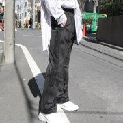 【新着】Cuirs(キュイー)メンズパンツ オリジナルサイドレーステープフレアパンツ作デザイン