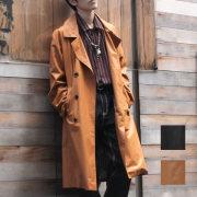 【新着】Cuirs(キュイー)メンズコート [新色ブラック入荷]オリジナルダブルブレストロングコート新作デザイン