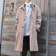 【新着】Cuirs(キュイー)メンズコート オリジナルステンカラーAラインコート新作デザイン