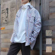 【新着】Cuirs(キュイー)メンズシャツ オリジナルロンドンストライプシャツ新作デザイン